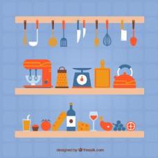厨房用具的多彩收藏