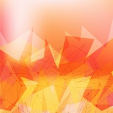 现代黄色抽象设计背景,多边形形状。