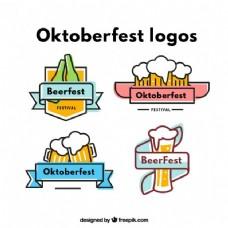 啤酒节丰富多彩的标志