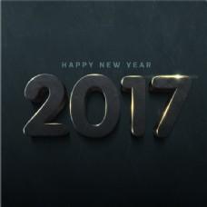 新年的黑暗背景