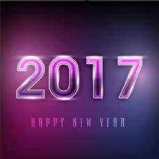 闪亮的新年紫色背景