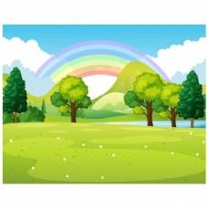 公园以彩虹