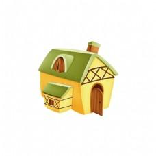 卡通小房子元素