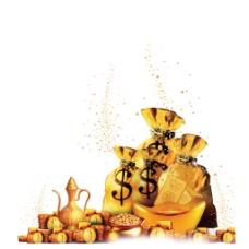 金币钱袋元素