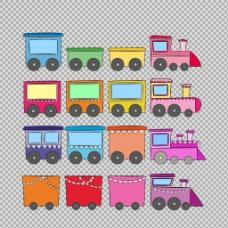 手绘火车插图免抠png透明图层素材