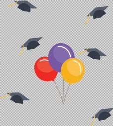毕业装饰元素免抠png透明图层素材
