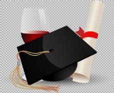 毕业元素图免抠png透明图层素材