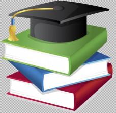 手绘毕业元素插图免抠png透明图层素材