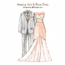 漂亮的结婚礼服和新娘礼服设计