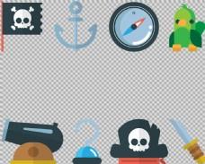 各种海盗元素图免抠png透明图层素材