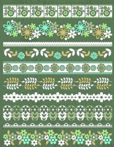 花藤花边分割线与复古装饰元素(8)