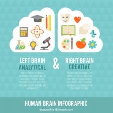 图表与人脑丰富多彩的物品