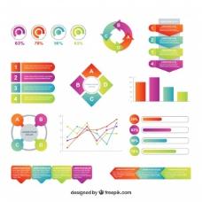 在平面设计的各种图表元素