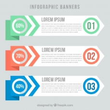 一些现代的信息图表的横幅