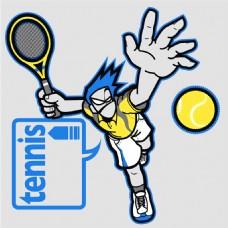 网球运动插画图片