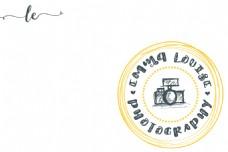照相机店铺微店logo水印矢量素材