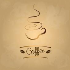 复古咖啡商标