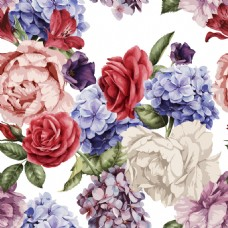 卡通玫瑰花填充纹理印刷高清设计素材