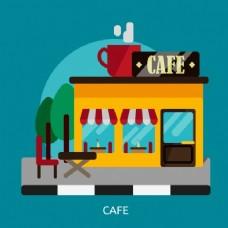 咖啡馆背景设计
