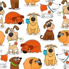 卡通动物无缝背景图片