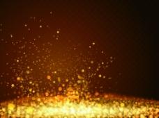 金色粒子光效掉落矢量素材