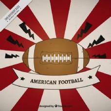 美国足球的阳光背景