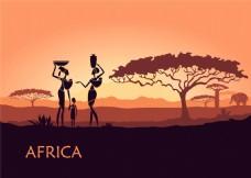 非洲的女人漫画图片