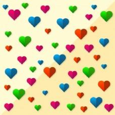 不同颜色的心
