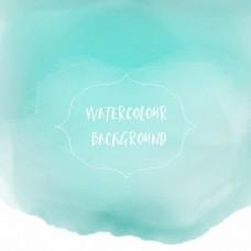 美丽的蓝色水彩纹理