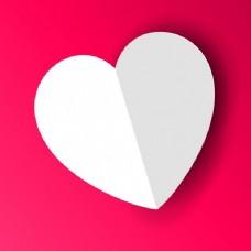 红色的背景和白色的心