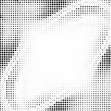带黑色半色调圆点的波浪背景