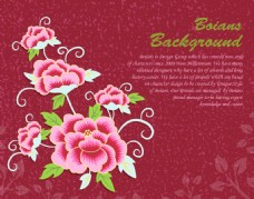 红色花纹图案