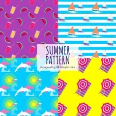 夏季元素模式背景