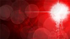 红色夜间梦幻背景图