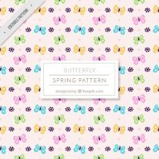 装饰蝴蝶的春季图案