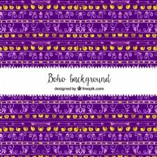 民族水彩造型的紫色背景
