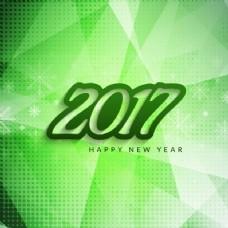 绿色新年2017几何背景