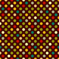 棕色背景上的彩色圆点