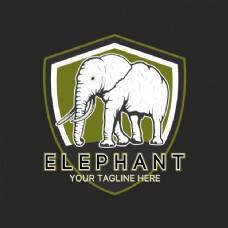 大象logo模板