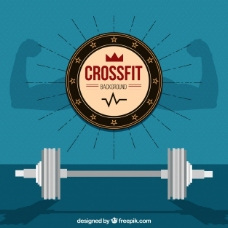 在平面设计背景CrossFit的权重