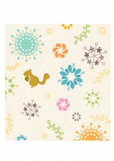 黄色花纹装饰图案