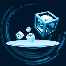 商务科技感蓝色主图背景