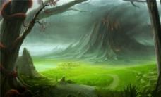 绿光森林H5背景图