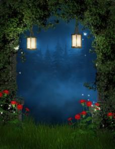 梦话森林围墙玄关装饰画背景墙