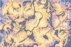 黄紫色花纹贴图