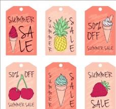 五彩缤纷的夏季促销吊牌