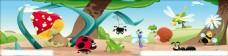 幼儿园围墙 昆虫世界