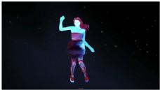 水彩舞动人物DJ动态背景视频素材