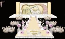 香槟色婚礼舞台效果