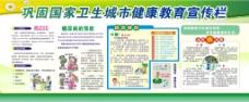 巩固国家卫生城市健康教育宣传栏